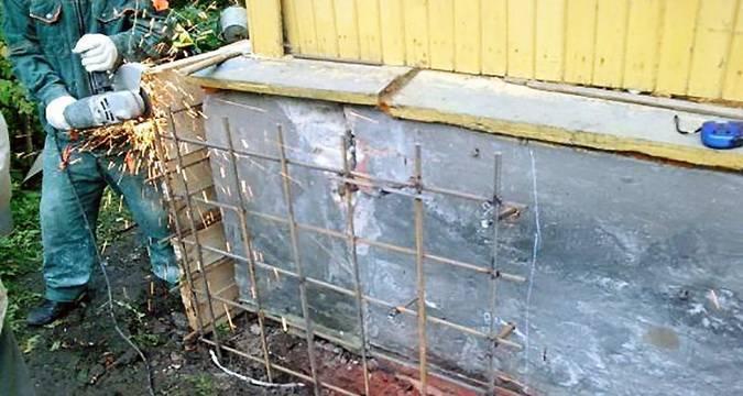 Восстановление фундамента: под домом, ремонт, усиление, технология