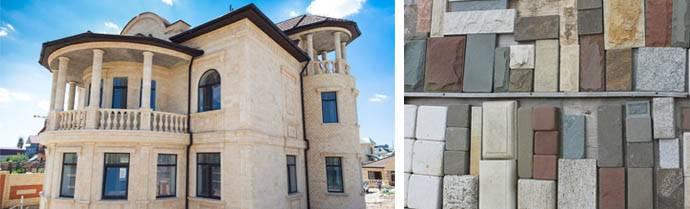Отделка дагестанским камнем (47 фото): облицовка стен фасада дома. как клеить облицовочный камень на пеноблок и другие материалы?