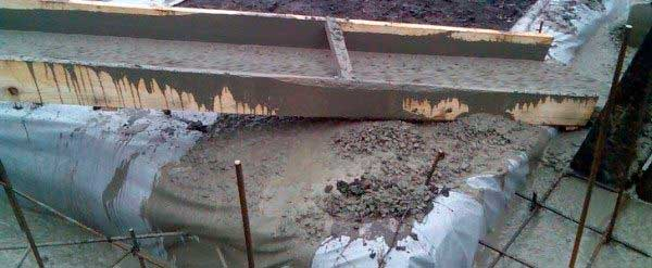 Пропорции бетона для ленточного фундамента