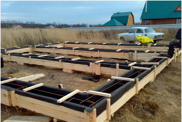 Строительство ленточного фундамента для каркасного дома
