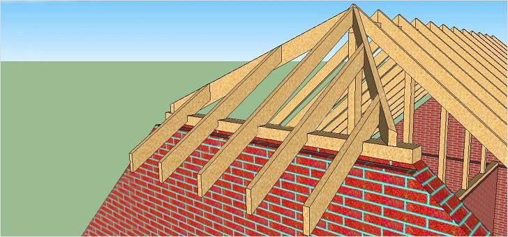 Стропильная система полувальмовой крыши схема - мастер на все руки
