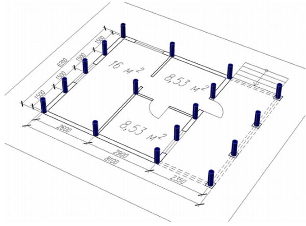 Свайный фундамент расчет количества свай - теория + онлайн-калькуляторы