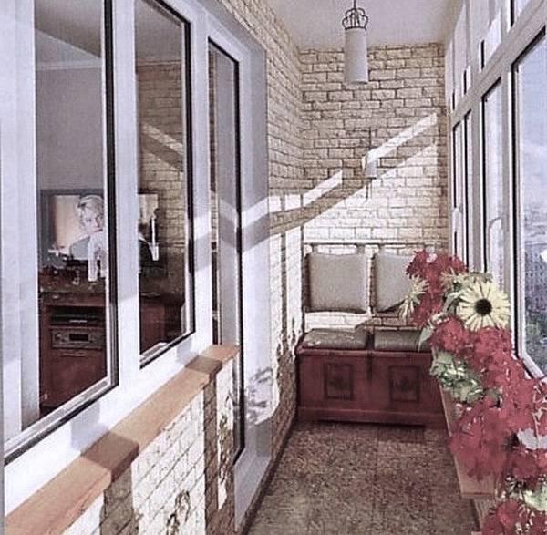 Отделка балконов и лоджий,внешняя и внутренняя - фото примеров