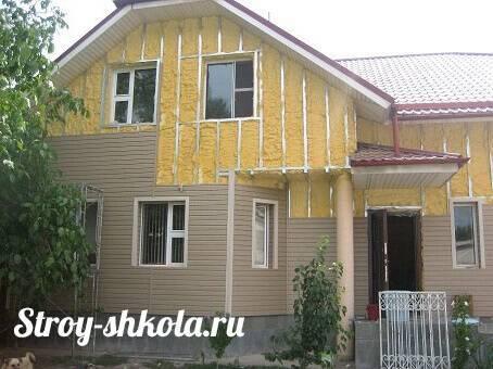 Утепление деревянного дома снаружи минватой под сайдинг - пошаговое руководство, бревенчатого дома, утеплитель для стен