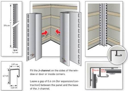 Металлическая обрешетка под сайдинг - крепление на профиль, монтаж