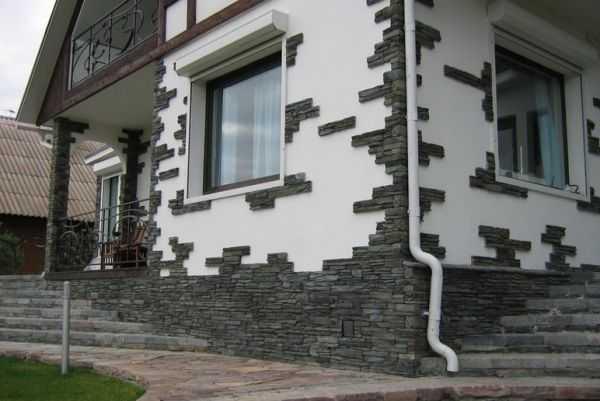 Облицовка фасада искусственным камнем