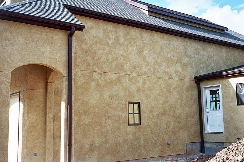 Штукатурка фасада - 70 фото оформления и техники наружного украшения