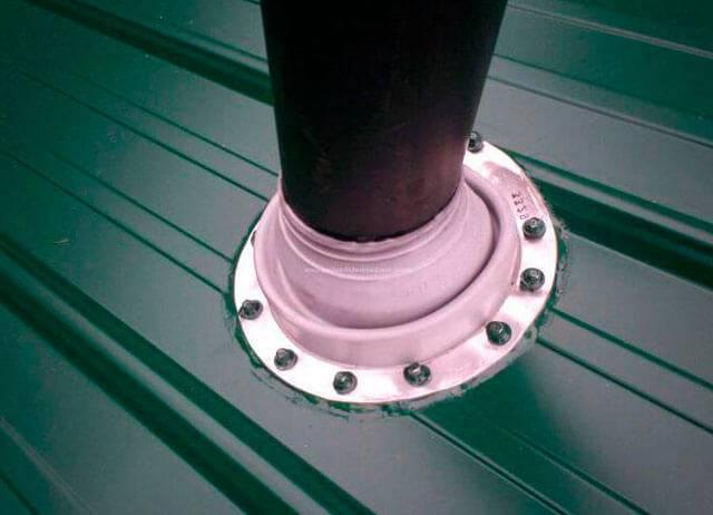 Как провести дымоход через крышу и деревянное перекрытие, подробно на фото +видео