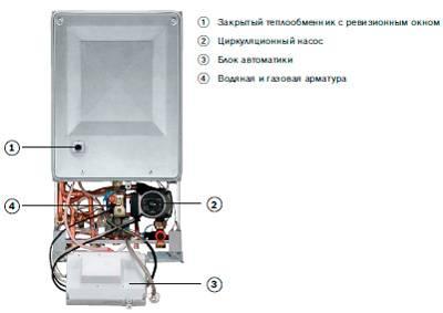Газовый котел bosch gaz 4000 w zwa 24-2 a 24 квт двухконтурный