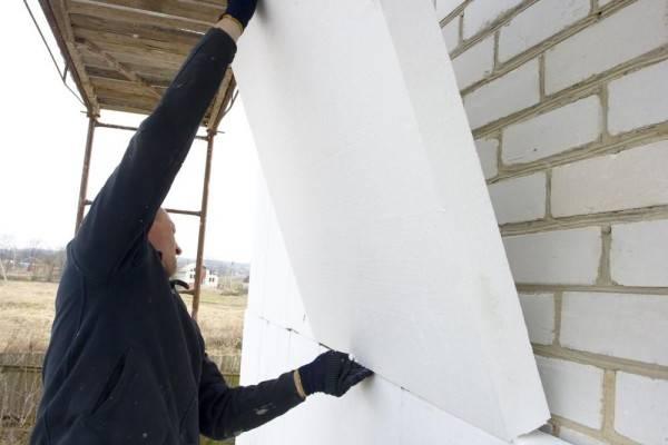 Утепление стен снаружи пенополистиролом своими руками