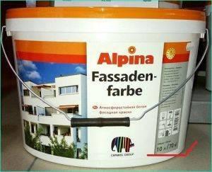 Фасадная краска «Альпина» — достоинства и недостатки, расчет расхода и нюансы отделки фасада
