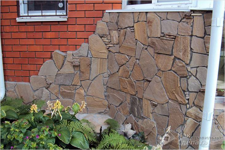 Гибкий камень для фасада дома – достоинства и недостатки