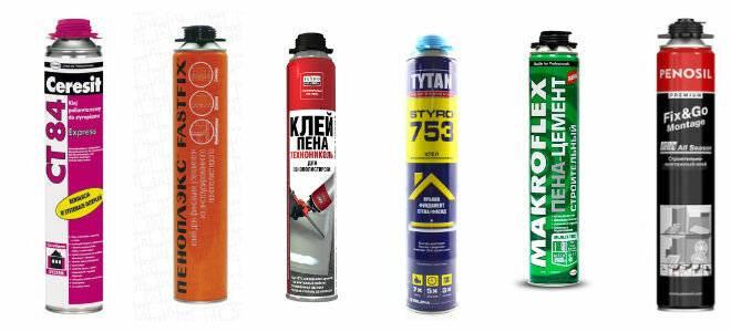 Клей-пена для газобетона: виды и особенности, обзор производителей