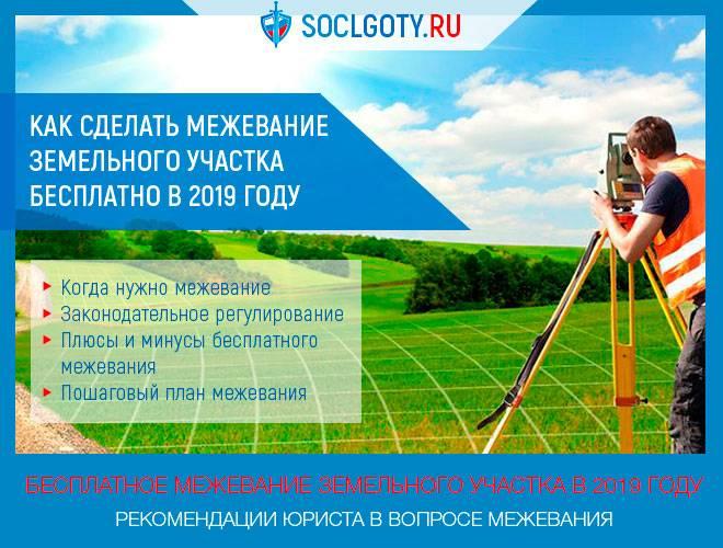 Межевание земельного участка бесплатно новый закон с 1 января 2021 года: в снт, стоимость, документы, через мфц