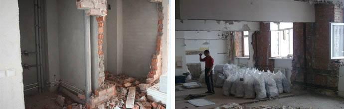 Цена демонтажа кирпичной стены за м2: разборка стенки - что это, когда нужен снос, технология слома вручную, как разобрать кладку с сохранением кирпича?