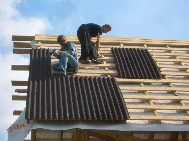 Крыша из ондулина: монтаж, технология покрытия, ремонт своими руками, расчет, устройство ондулиновой кровли