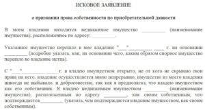 Правила составления искового заявления о признании права собственности на земельный участок