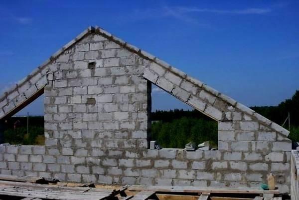 Крыша в доме из газоблоков - как сделать самостоятельно