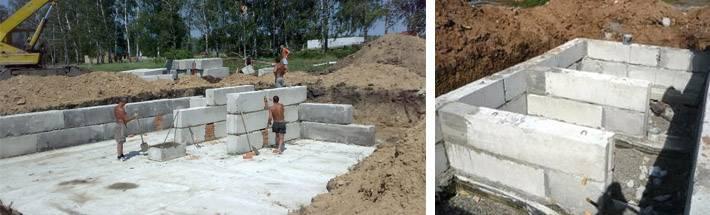 Как сделать подпорную стенку из фундаментных блоков