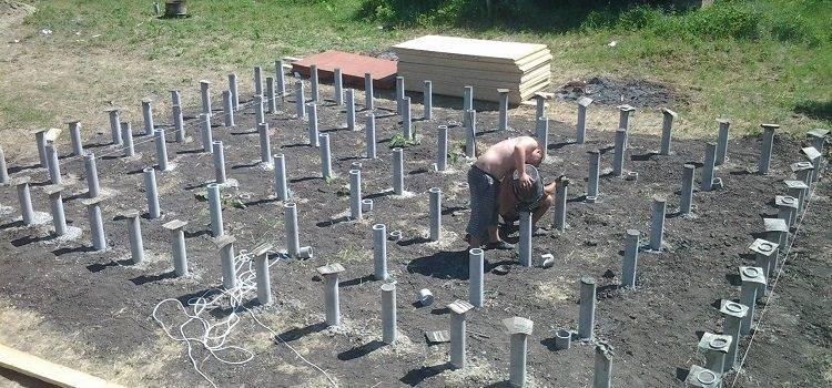 Фундамент из труб металлических своими руками, как сделать из забитых труб фундамент для дома