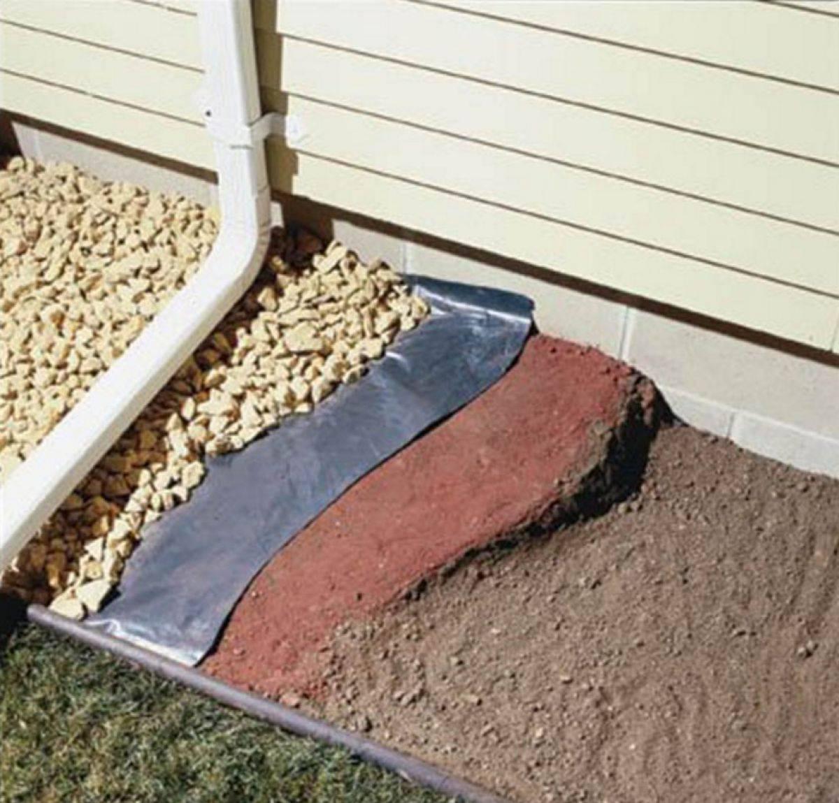 Гидроизоляция отмостки: рулонный вариант с утеплением и пленка для мягкой отделки, какими материалами произвести вокруг дома, чем лучше выполнить