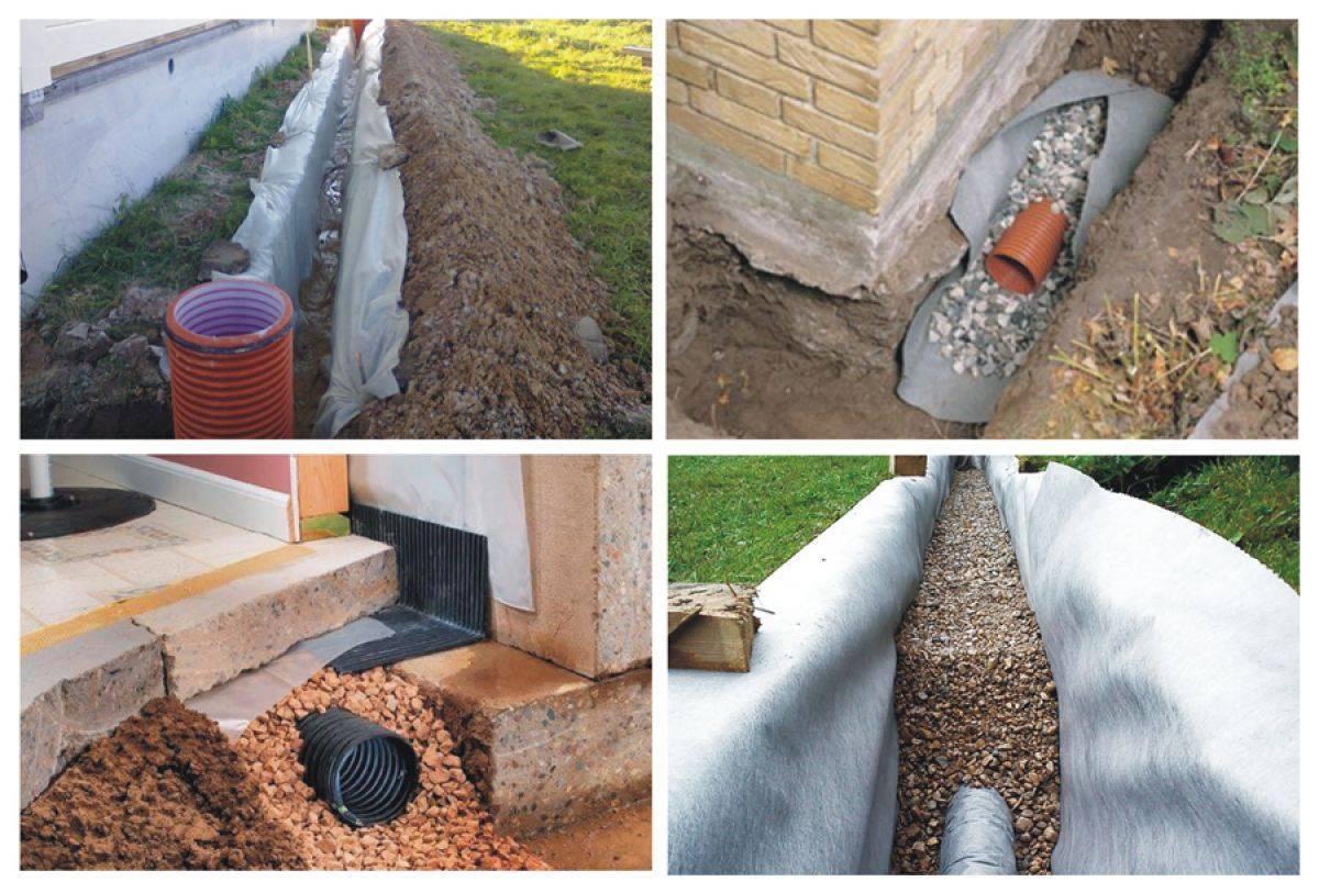Как сделать отвод воды от фундамента дома — рассказываем главное