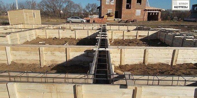 Бетонный фундамент: устройство и расчет высоты при строительстве дома, железобетонный вариант на винтовых сваях, снип и срок службы