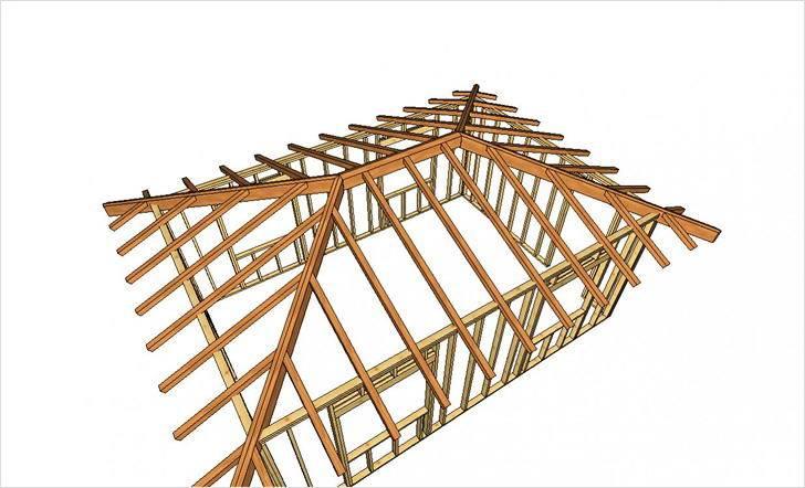 Пошаговая инструкция по монтажу вальмовой крыши