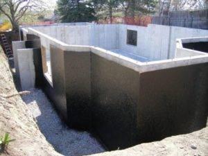 Устройство гидроизоляции фундамента