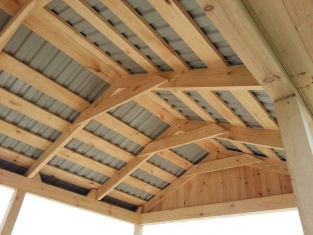 Четырехскатная крыша для беседки своими руками, как ее спроектировать и построить