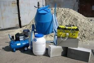 Изготовление пеноблоков как бизнес. приготовление смеси по баротехнологии, с использованием пеногенератора. формовка с помощью литьевой технологии и способа резки