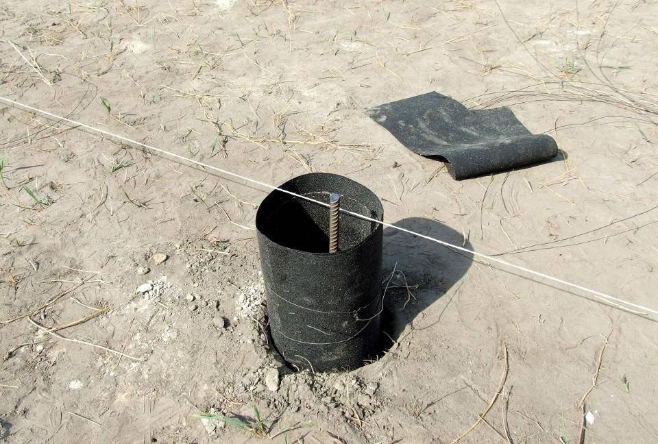 Столбчатый фундамент своими руками из пластиковых труб