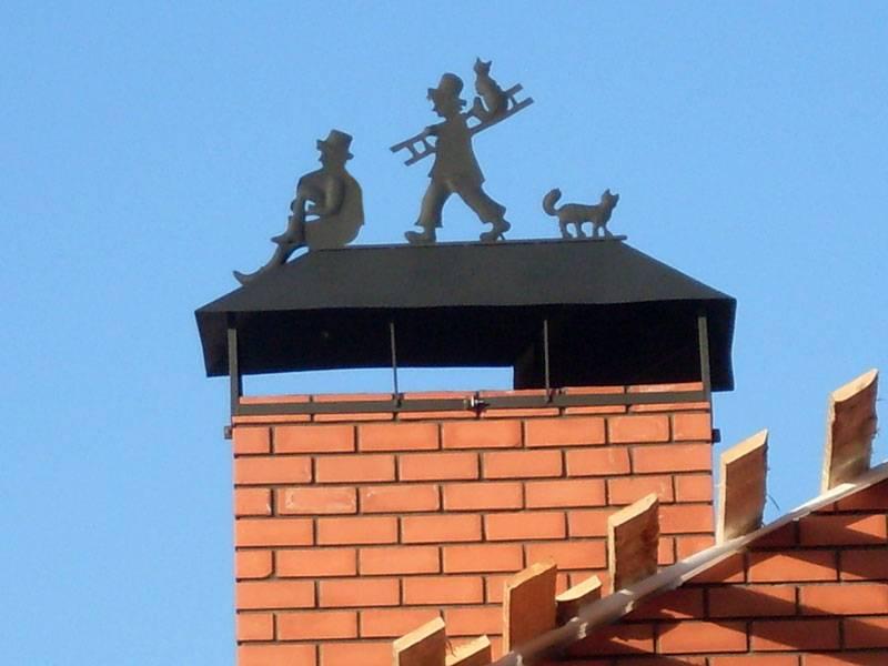 Оголовок вентиляционной трубы на крыше