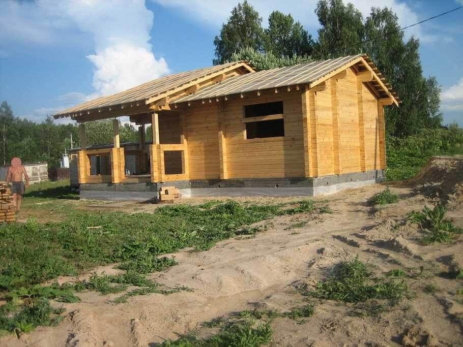 Дом из профилированного бруса своими руками