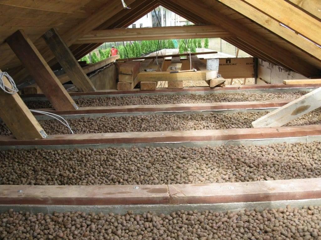 Можно ли утеплять потолок керамзитом, какой керамзит лучше для утепления потолка
