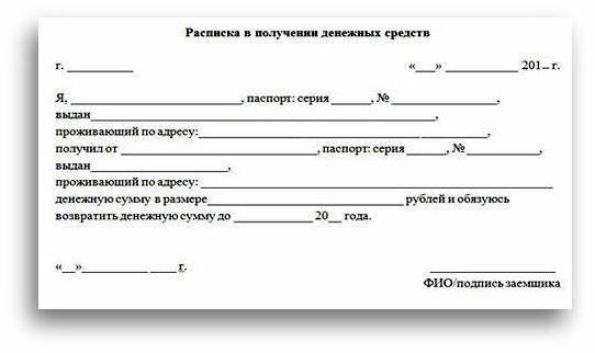 Расписка в получении задатка за дом и земельный участок
