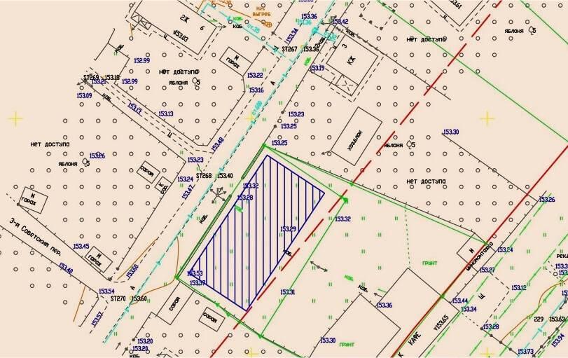 Топографический план земельного участка: как получить, образец