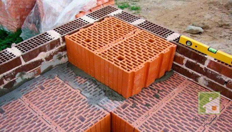 Особенности строительства дома из поризованных керамических блоков — викистрой