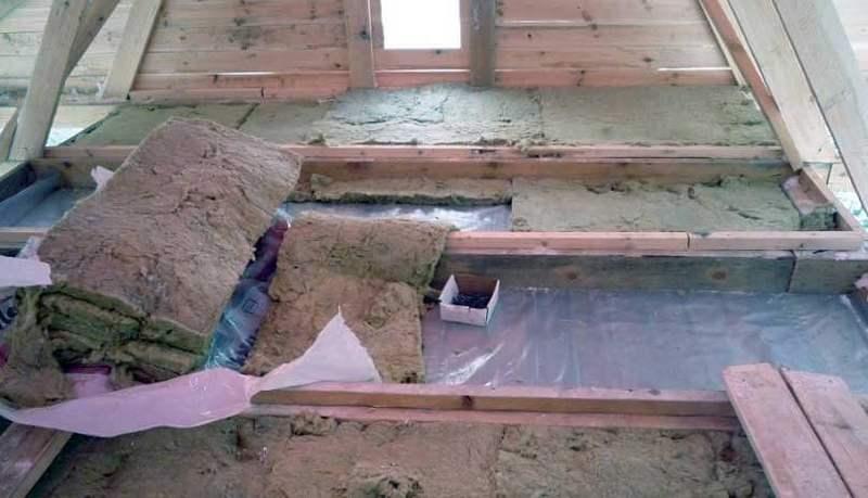 Утепление стен дома опилками с: известью, цементом