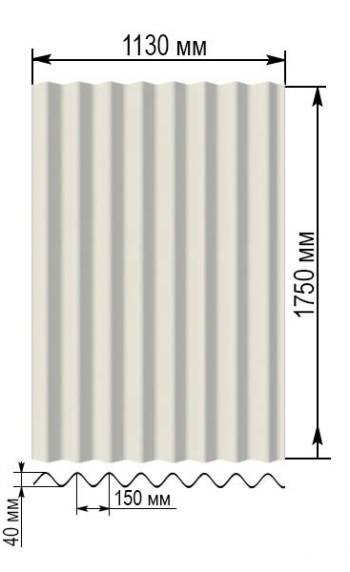 Размеры, толщина и вес плоского шифера: отличия 6 мм, 8 мм, 10 мм