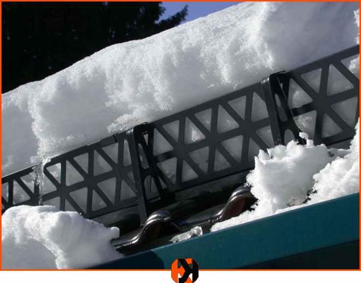 Снегозадержатели на металлочерепицу и их установка на крыше