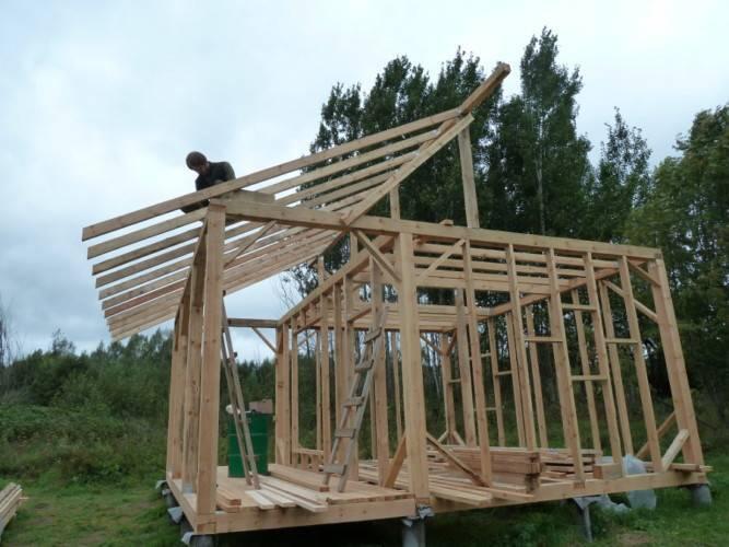 Как своими руками построить сарай из бруса?