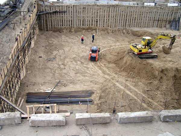 Проведение геодезических работ и разработка исполнительной схемы котлована