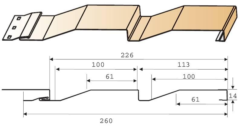 Металлический сайдинг под дерево или брус: железная корабельная доска