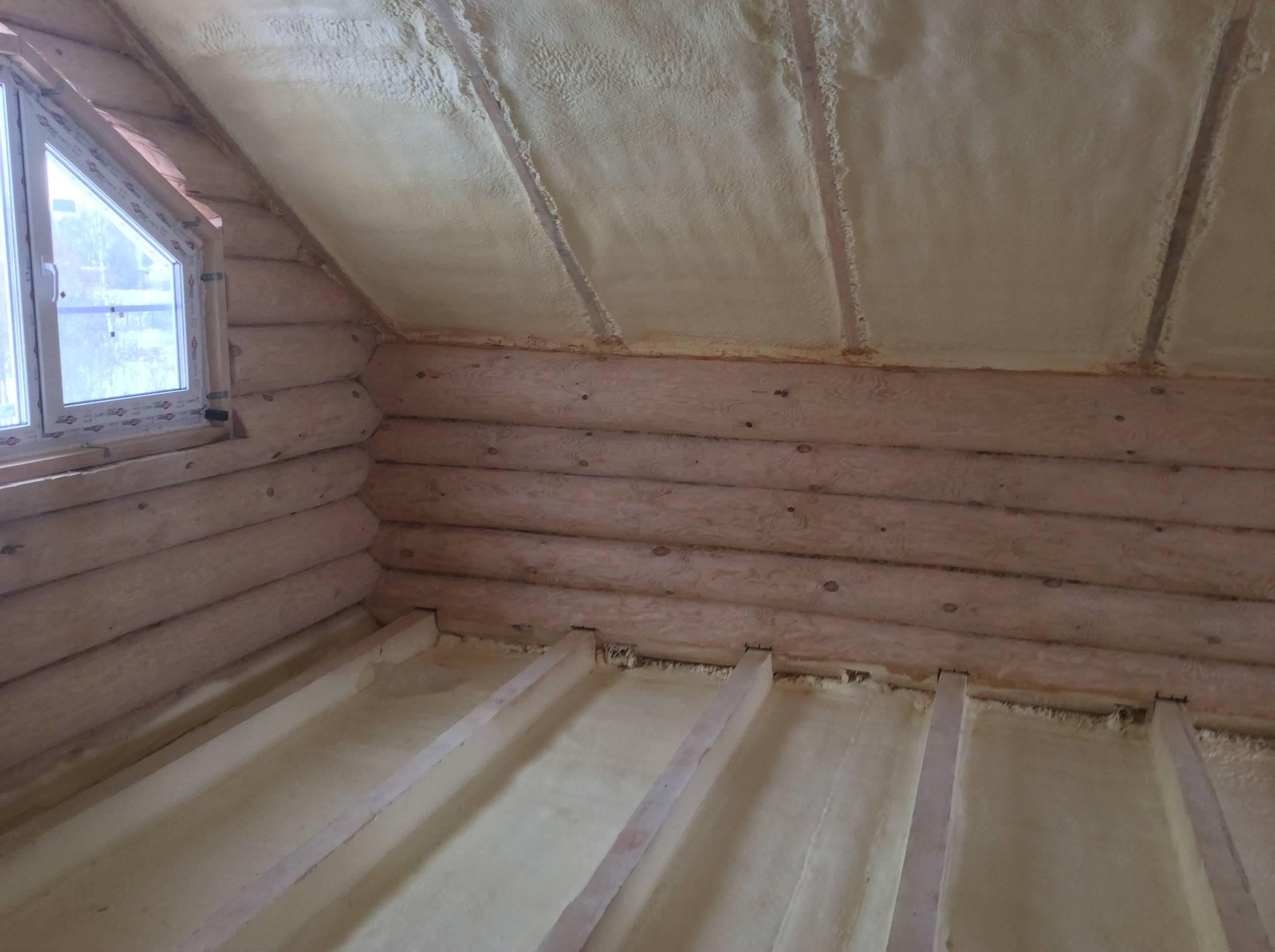 Утепление пенополиуретаном крыши