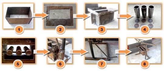 Как сделать шлакоблоки в домашних условиях: видео-инструкция по монтажу своими руками, особенности форм, станков, фото