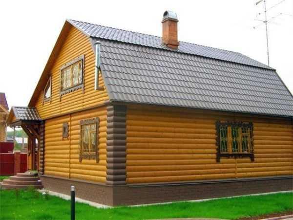 Сайдинг блок-хаус: размеры и цвета