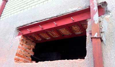 Как расширить дверной проем в кирпичной стене - клуб мастеров