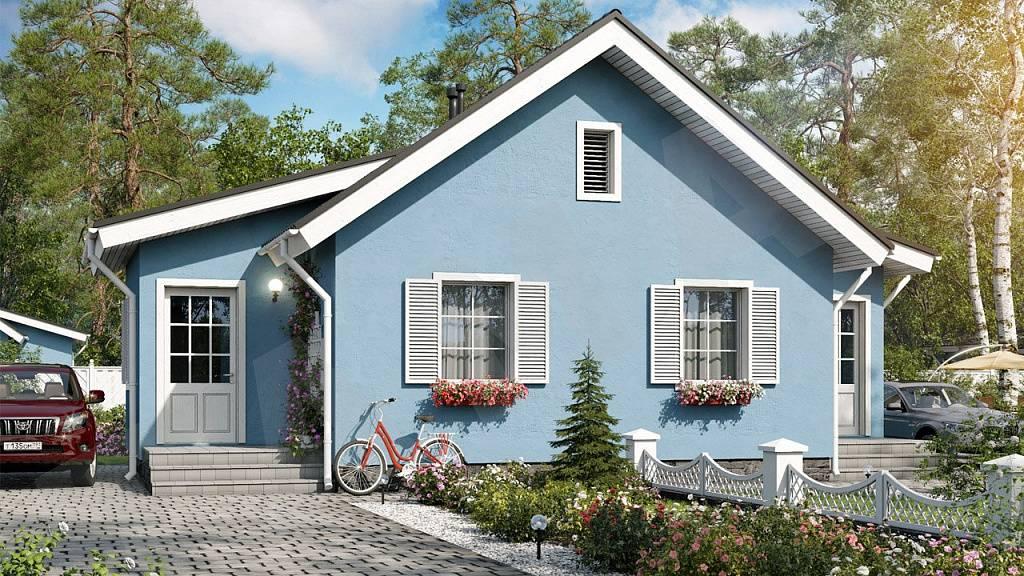 Сочетание цветов фасада дома и забора