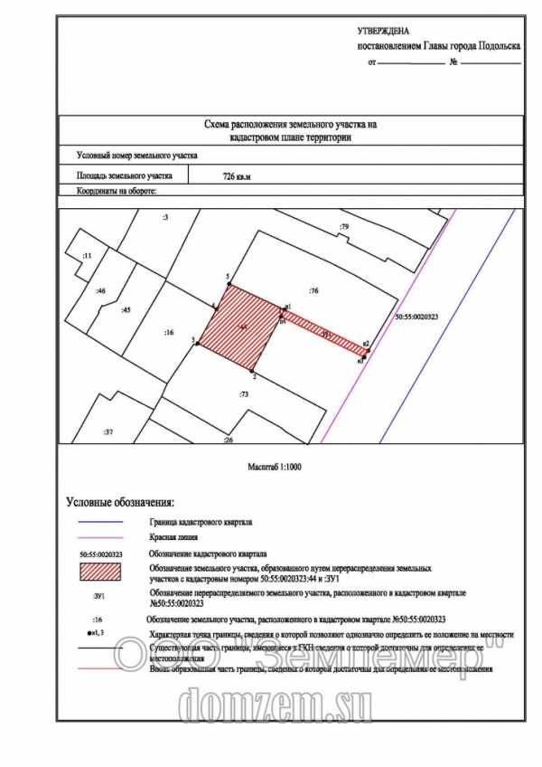 Кадастровая схема земельных участков